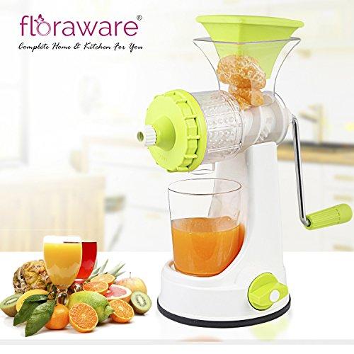 Floraware Plastic Juicer with Vacuum Locking System, Green