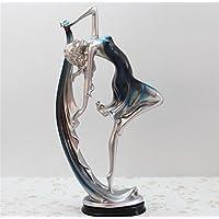 pengweiartesanías de resina de estilo europeo, decoración para el hogar muchacha de baile de los ornamentos de los regalos creativos , blue , 17*9*34
