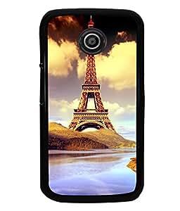 printtech Paris Tower Animation Back Case Cover for Motorola Moto E XT1021::Motorola Moto E (1st Gen)