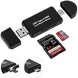 SD Kartenleser USB Type C//USB 2.0/Micro USB OTG 3 in 1 Kartenleser Adapter, SONOKA SD/Micro SD/TF Karte USB Stick Kartenleser für PC, Notebooks, Macbook und Android Smartphones & Tablet mit OTG Funktion