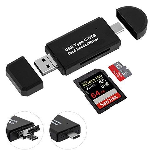 ❥ Avec ce lecteur cartes multifonctions(carte sd/micro sd non incluse), vous ne serez jamais besoin d'un autre lecteur carte, économiser de votre argent.  ❥ Des avantages du produit : ❥ support SD/Micro Sd/TF, OTG,3 en 1 interface (type C, Micro USB,...