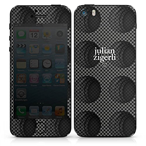 Apple iPhone SE Case Skin Sticker aus Vinyl-Folie Aufkleber Julian Zigerli Fashion Mode DesignSkins® glänzend