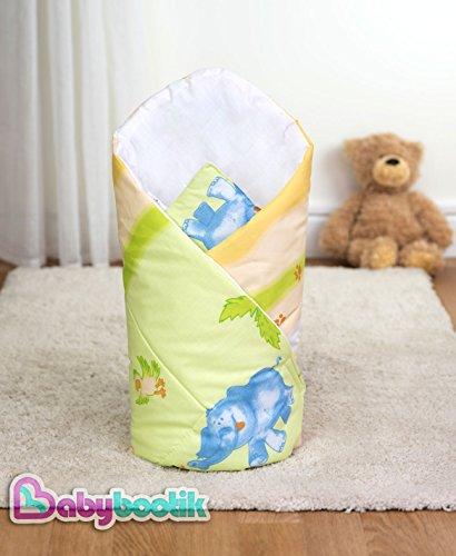 Baby Comfort Pucktuch, Motiv: Safari/Dschungel, 80x80cm