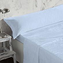 Burrito Blanco - Juego de sábanas Coralina 953 azul para cama de 90x190/200 cm