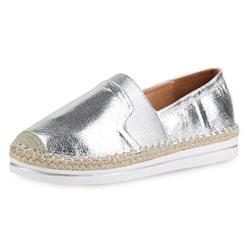 Espadrillas napoli Donna fashion argento bianco Bwaqxgw