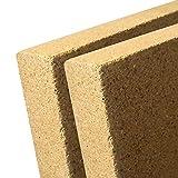 2 x 25 mm Vermiculite Platte 400 x 600 mm - Schamotte Ersatz - Ofen Kamin Auskleidung - Vermiculit