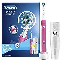 Oral-B Pro 2500 Şarj Edilebilir Diş Fırçası Cross Action (Seyahat Kabı Hediyeli), Pembe