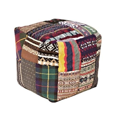 POUF FATTO A MANO mod. BEAN BAG STOOL 021 MULTICOLOR IN COTONE