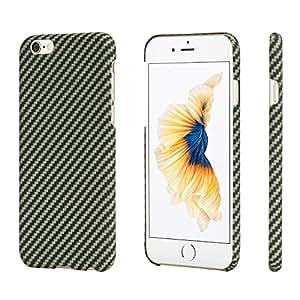 pitaka iPhone 6/iPhone 6s Coque, Aramide Fiber[Matériau de l'armure corporelle Réelle] Mince(0.65mm) Super Léger(8g) Durable Rigide en Caoutchouc Snap-on Case pour iPhone 6/6s-Noir/Jaune