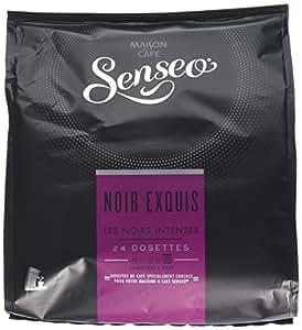 Senseo Café Intenses Noir Exquis 24 dosettes 166 g - Lot de 5 (120 dosettes)