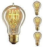 KINGSO 3x Edison Vintage Lampe E27 40W Antike Glühbirne Ideal für Nostalgie und Retro Beleuchtung 220V