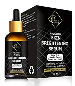 Finecare Lightening Serum with Kojic Acid 30ml Natural Skin Lightener Whitening Serum Dark Spot Corrector Remover for Face,Neck & Private Part