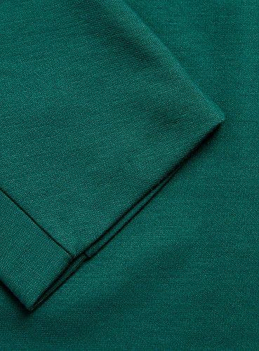 oodji Collection Femme Robe à Col Bateau Vert (6E00N)