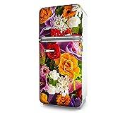 Kühlschrank-Folie Bunte Blumen selbstklebend mehrere größen | Sticker-folie | Klebefolie | Kühlschrank-Aufkleber | Front-folie | Dekoration | Küche | Deko-folie | Möbel-folie | Vinyl-folie