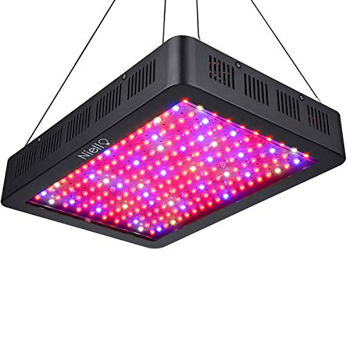 Niello 2000W LED Pflanzenlampe Doppel-10W-Chips LED Grow Light Vollem Spektrum LED Wachstumslicht 200 LEDs Pflanzenlicht Grow Lamp mit UV & IR und mit Rope Hanger für Zimmerpflanzen,Gemüse und Blumen