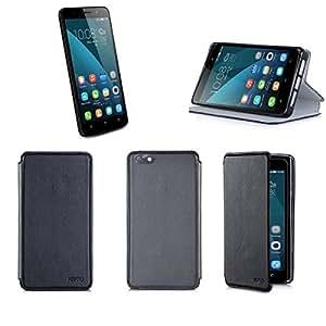 Etui luxe Huawei Honor 4X 4G Ultra Slim noir Cuir Style avec stand - Housse coque de protection phablette Android 5.5 Huawei Honor 4X Dual Sim noire - Prix découverte accessoires pochette XEPTIO : Exceptional case !