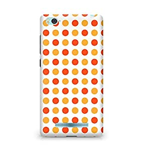 Amez designer printed 3d premium high quality back case cover for Xiaomi Mi4i (Orange Dots Pattern)