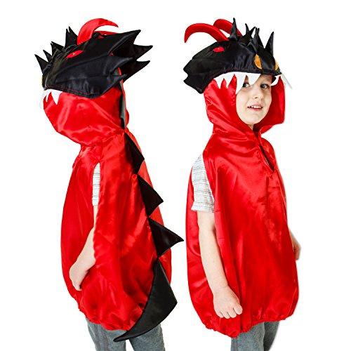 Luxus Drachen Kostüm für Kinder - 3-8 Jahre alt - Drache Kostüm Kinder - Slimy (Childrens Kostüme Drachen)
