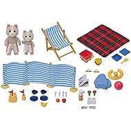 """Sylvanian Families - Set da gioco con pupazzetti in spiaggia """"Giornata in spiaggia"""""""