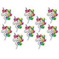 F Fityle 20x Inflatable Stick Animal Balloons Aluminum Foil Balloons for Birthday Party Decoration Gift Toy