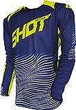 SHOT AEROLITE OPTICA Jersey blau/neon gelb 3XL
