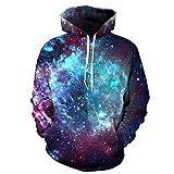Space Galaxy 3d-Sweatshirts mit Kappe Männer/Frauen Hooded Sweats Herbst Winter dünne Hoody Drucken Star Whirlpool, QYDM 075, XL