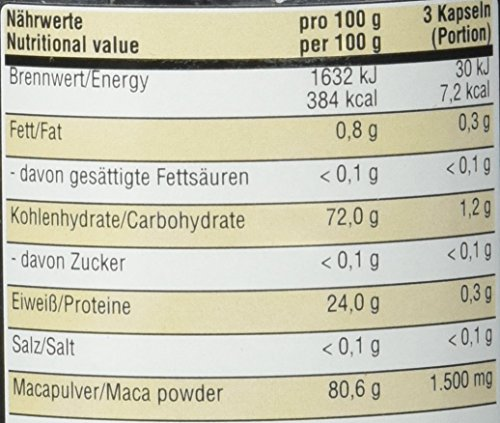 BWG Premium Maca 1500, Elite Line, 120 Kapseln, hochdosiert, 1er Pack (1 x 72 g)