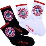 FC Bayern Sportsocken 2er-Set, Kinder Größen 31-34