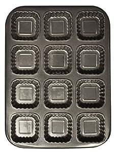 Zuvo - Moule pour muffin brownie carré x 12 cavités