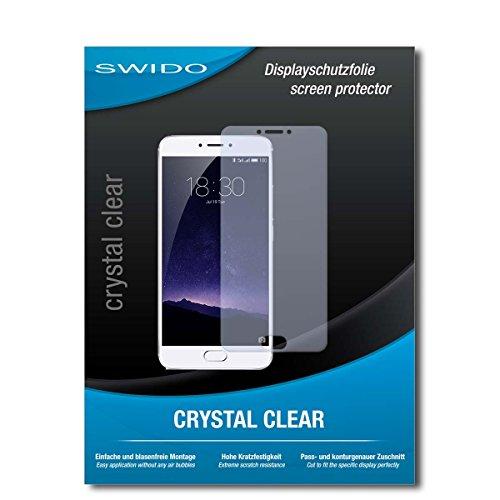 SWIDO Schutzfolie für Meizu MX6 [2 Stück] Kristall-Klar, Hoher Härtegrad, Schutz vor Öl, Staub & Kratzer/Glasfolie, Bildschirmschutz, Bildschirmschutzfolie, Panzerglas-Folie