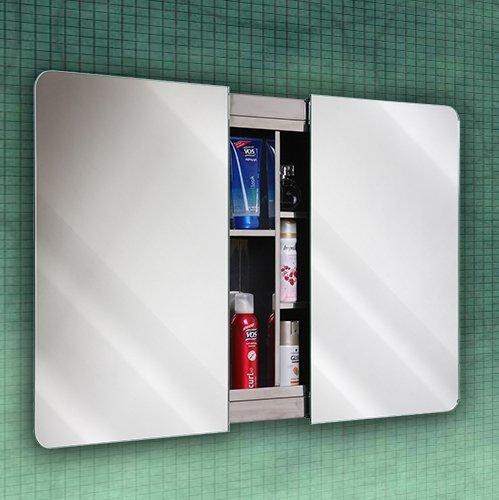 800x600mm Lucido Duo Slider Door Stainless Steel Bathroom Mirror Cabinet