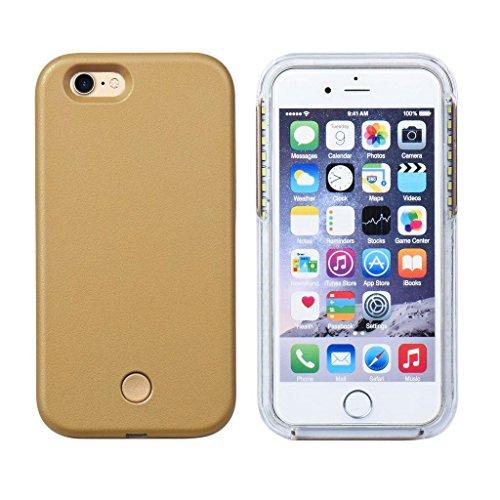 SAMRICK Gute Beleuchtung integrierte LED Selfie Cover Hülle für Apple iPhone 7–black-parent, mintgrün, Apple Iphone 7 gold