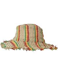 Large bord tricoté été crochet chanvre chapeau