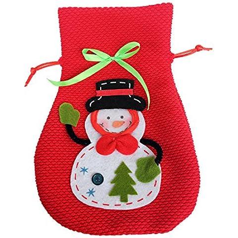 Creativo casa pratico Natale pupazzo di neve regalo sacchetto di caramelle