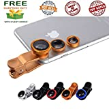 #6: JBONE™ Universal Mobile Camera lens 3 in1 kit Clip-On Fisheye+Wide Angle+Micro Lens for Xiaomi Mi, Apple, Samsung,Sony, Lenovo,Oppo,Vivo Smartphones and for All Android phone and ( Get a free surprised assured gift with every purchase of this product from JBONE )