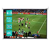 CCLIFE Beamer Leinwand Format 4:3 Rollo für Heimkino Business Fußballstadion als Full-HD und 3D-Leinwand/2 Jährliche Garantie 203x152cm