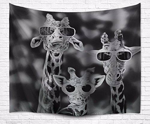 amonamour-black-and-white-image-picture-print-cool-giraffes-with-glasses-funny-pattern-print-fabric-
