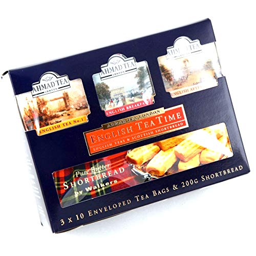 English Tea Time – Tea and shortb Read Combination Pack, 3 x 10 Teabags and 200 g Walkers shortb Read by English Teas