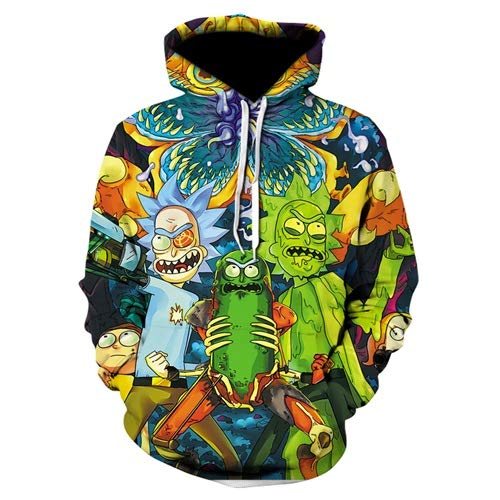 Ai Ya-weiyi 3D-Hoodies Cartoon Rick Und Drucken Morty Frauen/Männer Hoody Streetwear Casual Mit Kapuze Sweatshirts