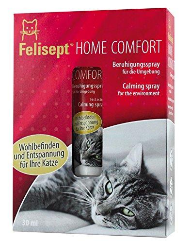 Quiko Felisept Home Comfort Beruhigungsspray 30ml | Umgebungsspray mit pflanzlichem Beruhigungsmittel & natürlicher Katzenminze für Katzen | Steigert Wohlbefinden & Entspannung