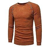 SuperSU Herren Herbst Winter Hemd Einfarbig Slim Beiläufige Herbst Winter Langarmhemd T-Shirt Oberteil Männlich Sweatshirt Pullover Pulli mit Rundhalsausschnitt Men Blouse Sweat