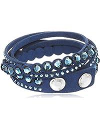 Swarovski pulsera de mujer rodio cristal azul 36 cm – 5201118