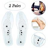 KOBWA Transparente Magnetische Orthopädische Einlegesohlen 2 Paare Euphoric Feet Akupressur
