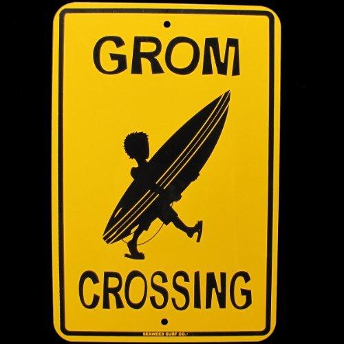 SW Grom Surfen Schild Surfer Boy Kid W Surfboard Surf Board -