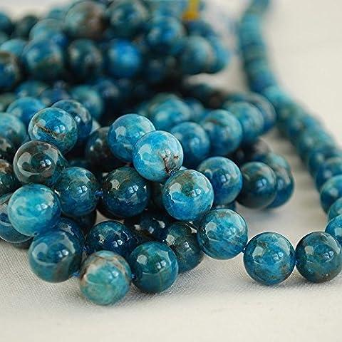 Haute qualité Grade A Naturel apatite (Bleu sarcelle) Pierre précieuse de pierres semi-précieuses Perles rondes 4, 6, 8, 10mm Tailles, 4mm (98 - 102 beads)