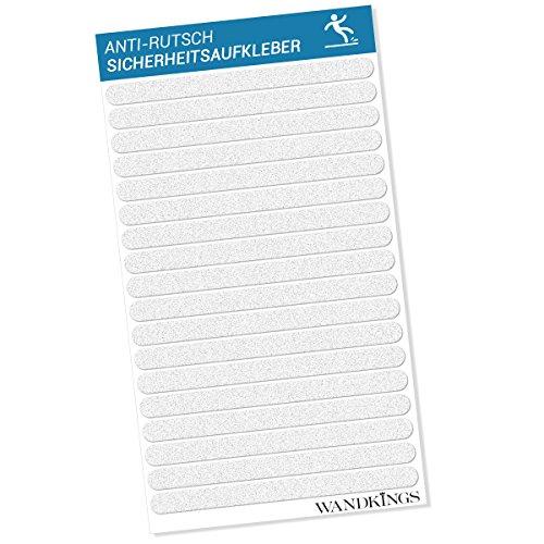 Wandkings Anti-Rutsch-Sticker, 18 Klebestreifen à 20 x 1,5 cm für Sicherheit in Badewanne & Dusche