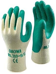 Showa 310 Green Grip Work & Gardening Gloves Size 8 / Medium - 10 Pairs