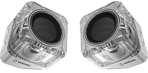 Soundance® altavoces Bluetooth con Bluetooth 4.1 TWS (Verdadero Estéreo sin Cables), EDR (Tasa de Datos Mejorada), y altavoz de sonido completo. Dos altavoces pueden formar un sistema estéreo sin cables de izquierda y derecha de doble canal (Blanco)
