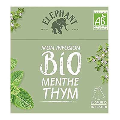 Elephant Bio Infusion Menthe Thym 20 Sachets 26g