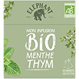 Elephant Infusion Menthe Thym 20 Sachets Pyramides -